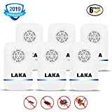 LAKA Ultrasonic Pest Repeller Plug in Pest Control - Electric Mouse Repellent Repellent for Mosquito, Mice, Rat, Roach, Spider, Flea, Ant, Fly, Bed Bugs, Cockroach - No Traps Poison & Sprayers