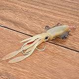 Worii Señuelo de Pesca de Pulpo de Ojos 3D, señuelo de Pesca de Calamar, PVC para Pesca de mar/Agua Dulce(1#)