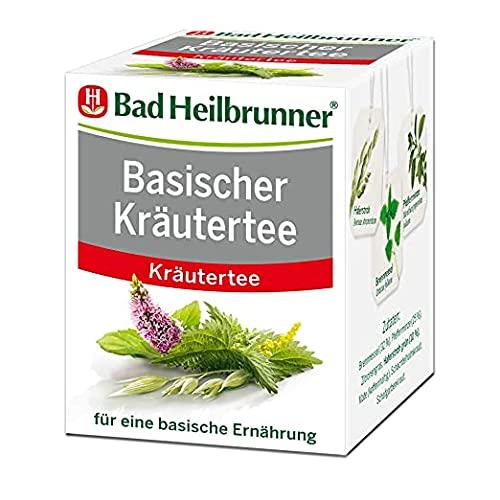 Bad Heilbrunner Basischer Kräuter Tee im Filterbeutel, 1er Pack (1 x 8 Filterbeutel)