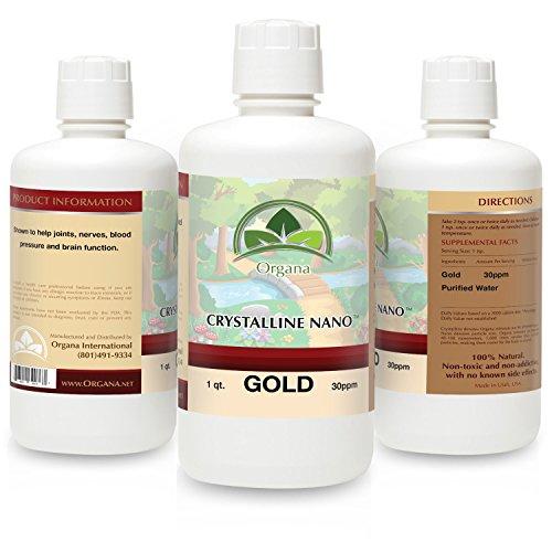NutriNoche The Nano Colloidal Gold Mineral - 30 Parts Per Million 32 Ounces