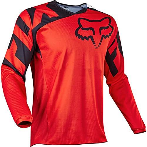 YMWL Hombre Mountain Bike Motocross Jersey Camiseta de Manga Larga Traje de Descenso al Aire Libr