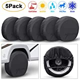 TRAVER DREAM Tire Covers Set of 5 for Rv Travel Trailer Camper, Wheel Covers Sun Rain Frost Snow...