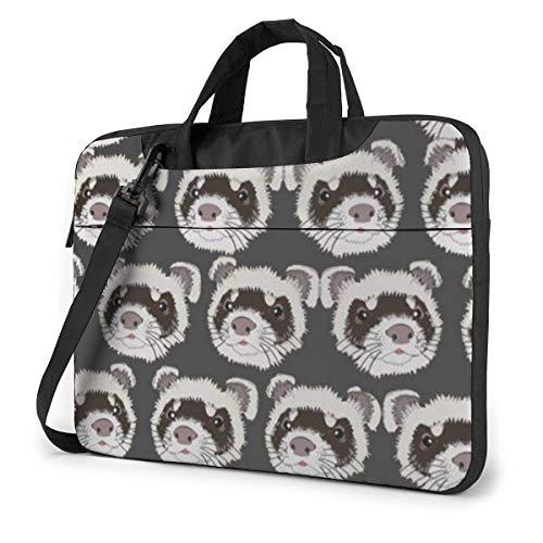 15.6 inch Laptop Tasche Schultertasche Bussiness Messenger Tablet Tasche Laptophülle Meerschweinchen mit Keks