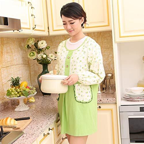 YLCJ Kids Katoen Volwassen Lange Mouw Rokken Waterdicht Langwerpige Koreaanse Stijl Mode Werkkleding (Kleur: Oranje)
