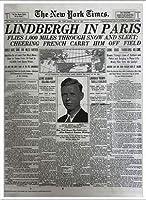 ポスター ピーター リンドバーグ VISIONAIRE(ヴィジョネアー)チャールズ・リンドバーグ NYタイムズ1927年5月22日 額装品 アルミ製ベーシックフレーム(ホワイト)