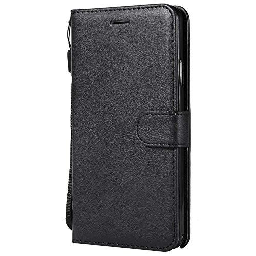 DENDICO Coque Galaxy Note 3, PU en Cuir Coque Portefeuille Étui Housse, Design Classique TPU Coque pour Samsung Galaxy Note 3 - Noir
