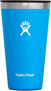 Hydro Flask Tumbler Cup - Stainless Steel & Vacuum Insulated - Press-In Lid - 16 oz, Pacific