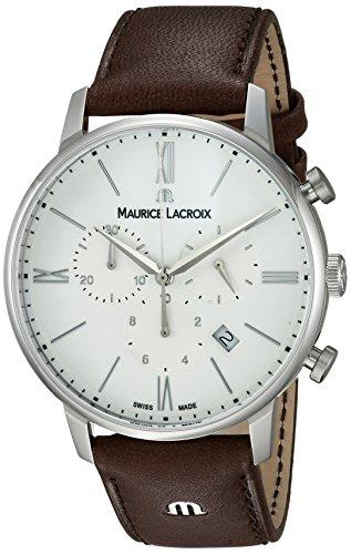 Maurice Lacroix Reloj analógico para Hombres de con Correa en Cuero EL1098-SS001-112-1