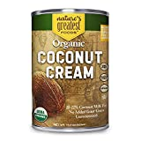 Organic Coconut Cream by Nature's Greatest Foods - 13.5 Oz - No Guar...