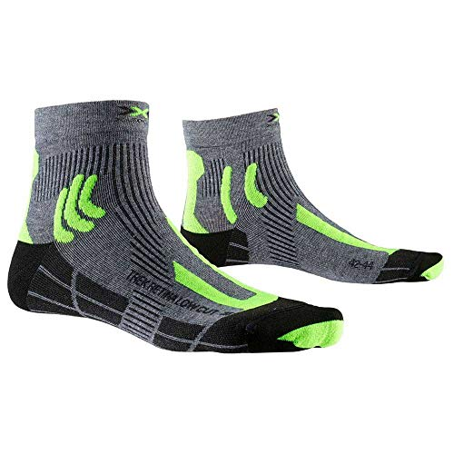 X-Socks Trek Retina Low Cut Calcetines De Senderismo Trekking Hombre Mujer Socks Calcetines, Unisex adulto, Grey Melange / Phyton Yellow / Black, 39/41