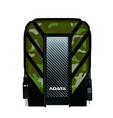 ADATA HD710M 2TB Robuste wasserdichte/ staubdichte/ stoßfeste USB3.0 Externe Festplatte, US Militäry Standard IP68 - Camouflage (AHD710M-2TU3-CCF)