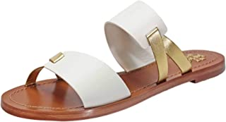 Tory Burch Ravello Two-Band Slide,Perfect Ivory/Gold