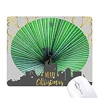 写真の新鮮な葉の画像の性質 クリスマスイブのゴムマウスパッド