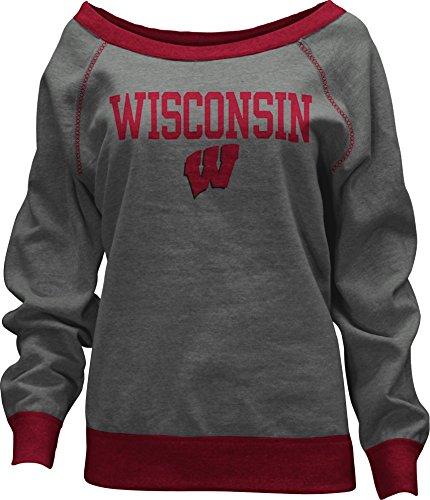 Three Square by Royce Apparel NCAA Damen Casper Knobi Fleece Langarm Sweatshirt, Damen, grau, Large