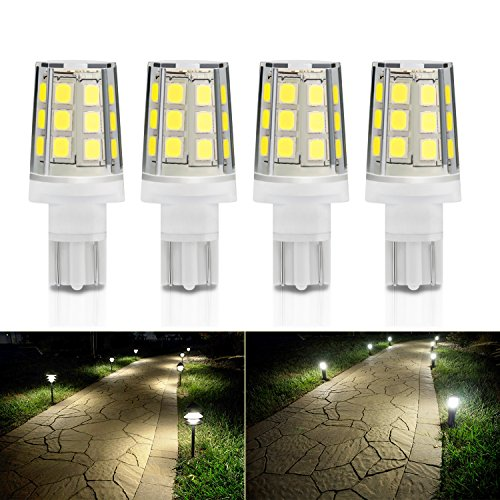 Kohree 2.5W LED Replacement Landscape Pathway Light Bulb 12V AC/DC Wedge Base T5 T10 for Malibu Paradise Moonrays and more (4 Pack, 4500K Natural White/Daylight White)