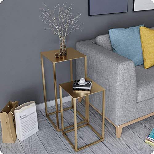 Kleine koffietafel, draagbaar, kleine salontafel, Nordic mini-stijl, modern en minimalistisch, creatieve hoekbank, tafels van metaal, Amerikaanse salontafel C Goud