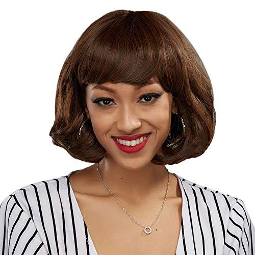 L-SLWI Mesdames Perruque Rose Net Cheveux Courts bouclés Haute température Soie Dames de Mode Dames Perruque Cheveux Ensembles