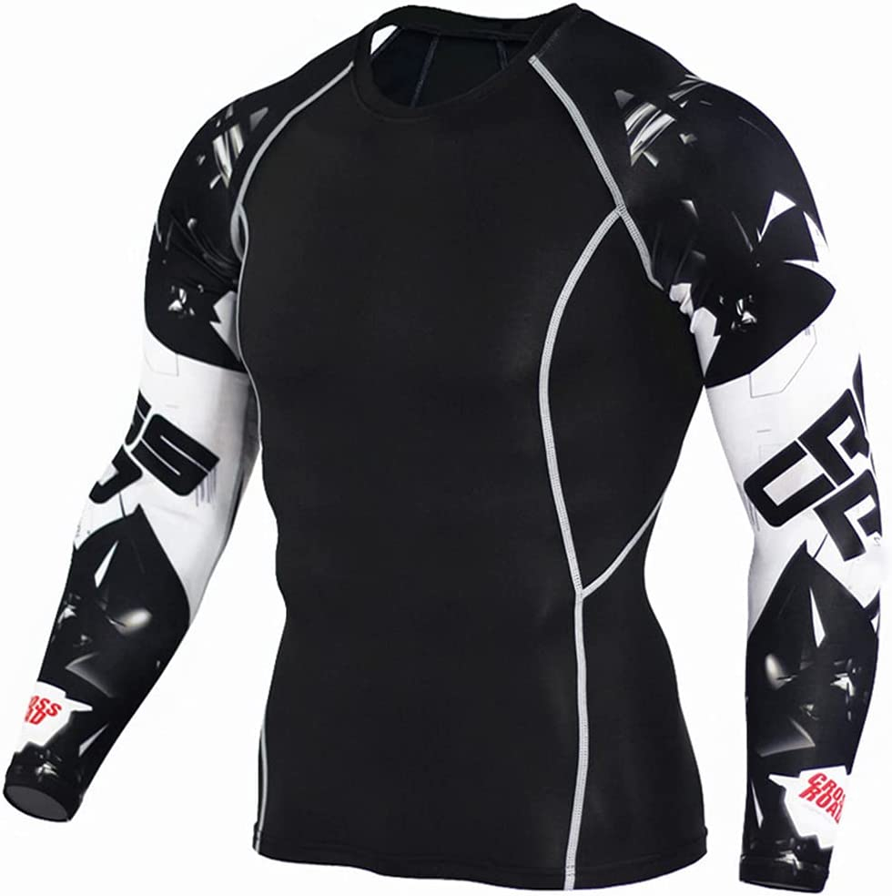 Fashion Pure Color Quick Dry Bodybuilding Compression Shirt Long Sleeves T Shirt Plus Size Fitness Clothing Solid Color Tops