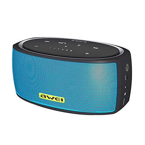 ZNMJW Altavoz Bluetooth inalámbrico 4.2 NFC portátil estéreo compatible con emparejamiento de subwoofer táctil audio-bluelake