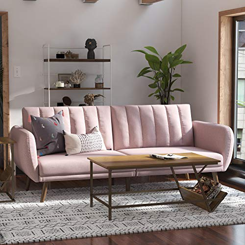 Novogratz Brittany Sofa Futon - Premium Upholstery and...