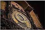 1000 piezas-Torre del reloj astronómico de Praga Vista nocturna Rompecabezas de madera DIY Rompecabezas educativos para niños Regalo de descompresión para adultos Juegos creativos Juguetes Rompecabez