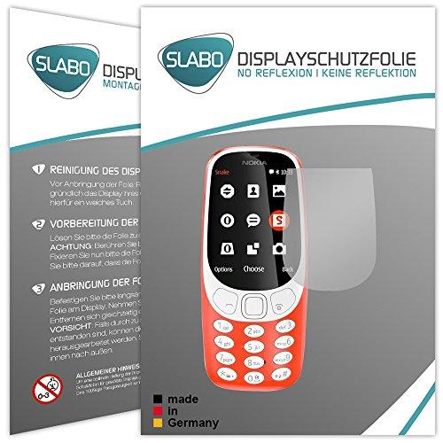 Slabo 2 x Bildschirmfolie für Nokia 3310 (2017) Bildschirmschutzfolie Zubehör No Reflexion MATT