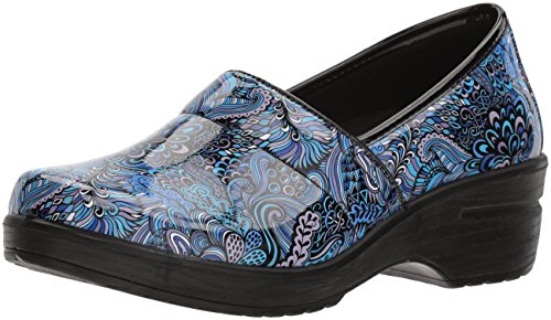 Easy Works Women's LYNDEE Health Care Professional Shoe, Blue pop Patent, 10 W US