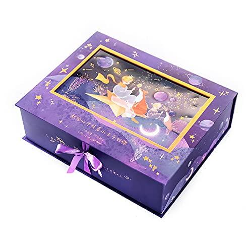 MLOPPTE Caja de regalo de cuenta manual,Página colorida Libro de mano Caja de regalo Ilustración de cuaderno Cuaderno de regalo de estudiante Diy Material de cuenta de mano G