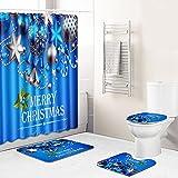 Duschvorhang Königsblau Grau Shower Curtains Polyester Waschbar Shower Curtain Wasserdicht Duschvorhänge Schimmelsicher Mit 12 Kunststoffhaken Duschvorhang 180x180