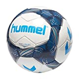 hummel Premier Ultra Light FB-Ballon de Football Balles Mixte Adulte, Blanc/Bleu Indigo/Turquoise, 3