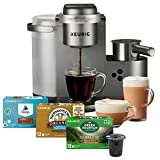 Keurig K-Cafe C Single Serve K-Cup Pod C Latte and Cappuccino Maker, 12, Nickel