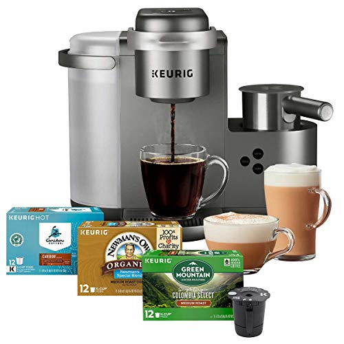 Keurig K-Cafe C Single Serve K-Cup Pod C Latte and Cappuccino Maker, 12, Nickel