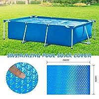 新しいプールカバースクエア/ラウンド太陽スイミングプール浴槽カバー屋外バブル毛布アクセサリー防塵防水プールカバー-260x160cm
