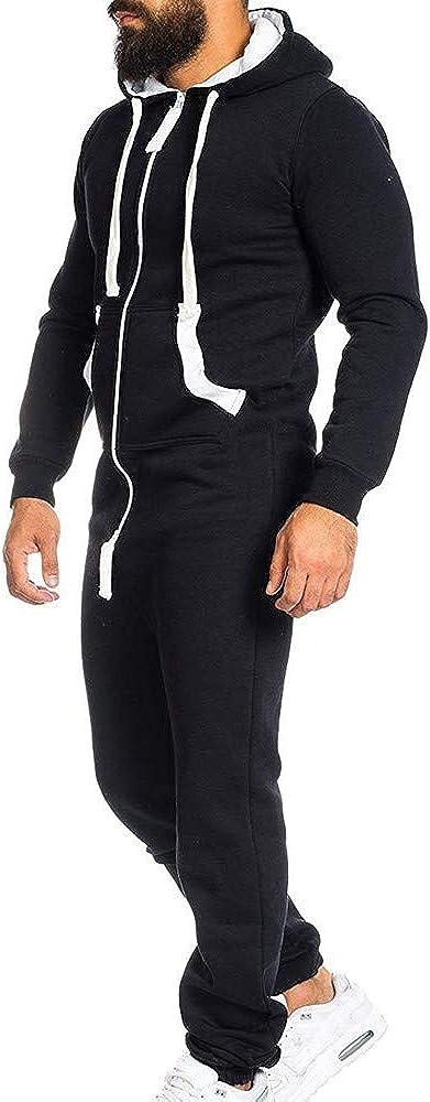 Mono Unisex para Hombres Pijama Entero Onesie Prenda de una Pieza Sin pie Pijama Traje Blusa Sudadera con Capucha