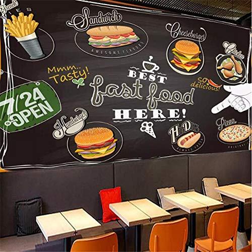Pizza Europea Tienda De Postres Graffiti Pared De Fondo Paño De Pared Fabricantes Papel Tapiz Al por Mayor Mural Foto De Pared-430Cmx300Cm(169.3X118.1Inch)