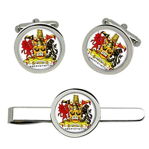 Giftshop UK Aberystwyth Gemelos y Corbata Clip Set