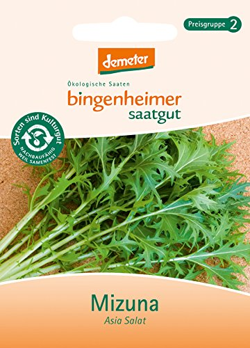 Bingenheimer Saatgut - Asia Salat Mizuna - Gemüse Saatgut / Samen