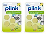 Plink Washer and Dishwasher Freshener, Phosphate and Bleach Free, Deodorizer and Cleaner, 8 Tablets,...