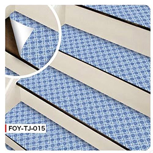 6 pegatinas autoadhesivas para escaleras de azulejos de mosaico, vinilo adhesivo de pared de PVC para cocina, pegatinas de cerámica, decoración del hogar (color 015 pegatinas de escaleras)