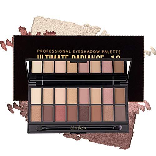 Onlyoily 16 couleurs Palette Ombres Paupire Ultra Shimmer Matte Pigmente, Palette de Maquillage Fard Paupire Palette Fard...