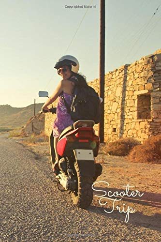 Scooter Trip Notebook: Travel Notebook, Journal, Diary (110 Pages, Blank, 6 x 9)