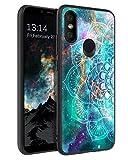 BENTOBEN Funda Compatble Xiaomi Mi A2, Funda Xiaomi Mi 6X, Carcasa Cover Ultra Delgada Mandala Luminoso Resistente Silicona Suave PC Dura Protectora Cuero Completa Fundas para Xiaomi Mi A2/6X-Mandala