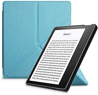 Capa Kindle Oasis 3 - Auto Hibernação - Fechamento Magnético - Origami - Azul Claro