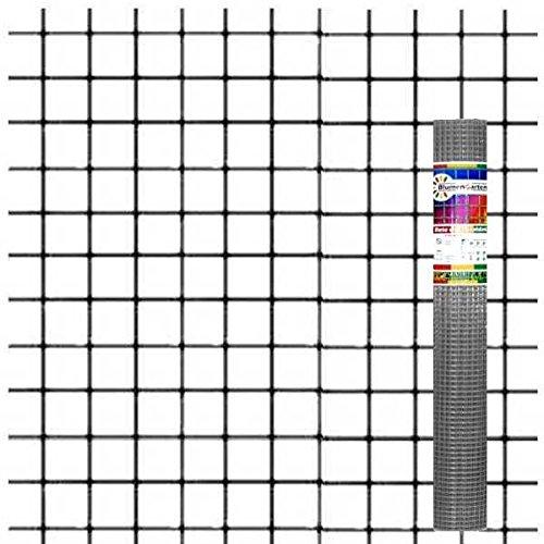 Rotolo rete elettrosaldata zincata - 5 metri - maglia 12,5x12,5 mm - filo diametro 0,9 mm - Altezza: 1,00 m