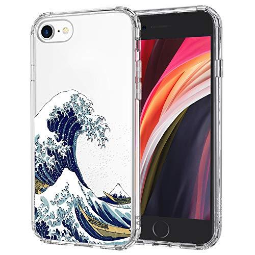 MOSNOVO Cover iPhone SE 2020/iPhone 8/iPhone 7, Tokyo Wave Trasparente con Disegni TPU Bumper con Protettiva Custodia Posteriore per iPhone 7/iPhone 8/iPhone SE 2020 (Tokyo Wave)
