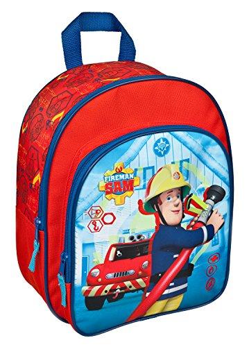 Undercover FSTU7601 - Feuerwehrmann Sam Rucksack, mit Vortasche und gepolsterten Schultergurten, ca. 31 x 25 x 10 cm