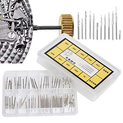 Horlogereparatieset, roestvrijstalen veerstangen Verbindingspennen met verwijderaar Reparatiegereedschap Horlogestang Verlengstuk Stang Polshorloge Opwindende steelverlenger voor 2824 2836 Beweging
