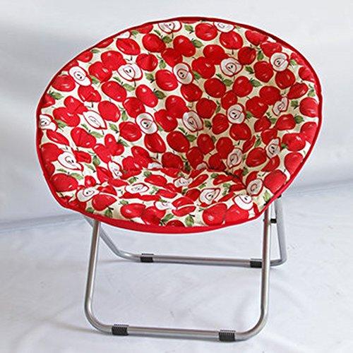 FEIFEI Fauteuils inclinables Chaise pliante de ménage de chaise de radar Chaise adulte de lune Pliant (Couleur : A)