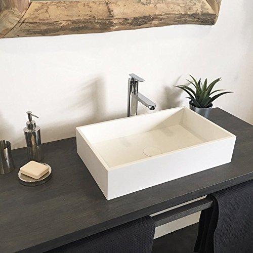 Ambra Lavabo Rectangular 50 cm en Solid Surface – Soho