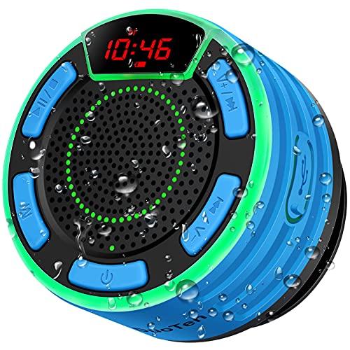 Bluetooth Speakers, DuoTen IPX7 Waterproof Wireless Portable Bluetooth Speakers w/LED Display, FM...